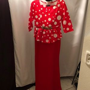 Red and White Holiday Dress Size XXL